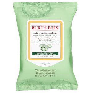 Burt's Bees Facial Cleansing Towelettes - Cucumber and Sage (30 stk.)