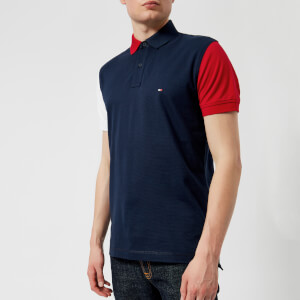 Tommy Hilfiger Men's Colour Block Polo Shirt - Navy Blazer