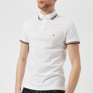 Tommy Hilfiger Men's Tommy Tipped Slim Polo Shirt - Bright White
