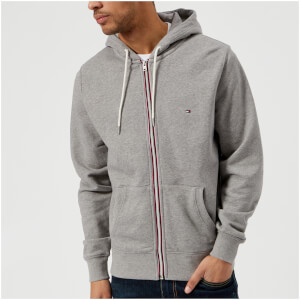 Tommy Hilfiger Men's Basic Hooded Zip Through Sweatshirt - Cloud Heather