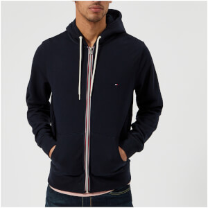 Tommy Hilfiger Men's Basic Hooded Zip Through Sweatshirt - Midnight