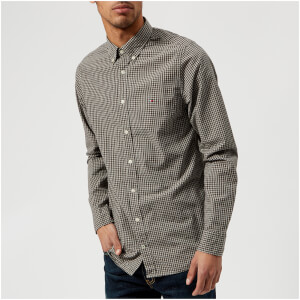 Tommy Hilfiger Men's Slim Fit Gingham Check Shirt - Delicioso/Cloud Heather