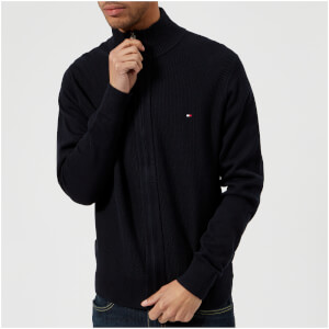 Tommy Hilfiger Men's Adrien Zip Through Hooded Sweatshirt - Midnight