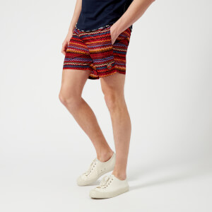 Missoni Men's Zig Zag Print Swim Shorts - Red/Multi