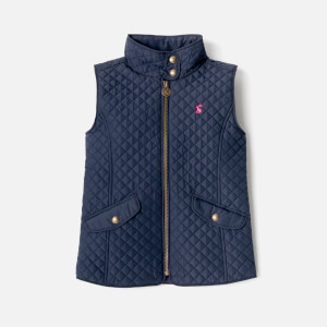 Joules Girls' Silvan Quilted Gilet - French Navy