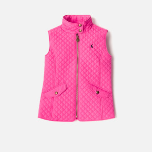 Joules Girls' Silvan Quilted Gilet - Bright Pink