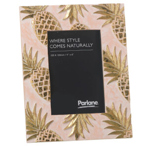 Parlane Pineapples Photo Frame - Pink/Gold (23.5 x 18cm)