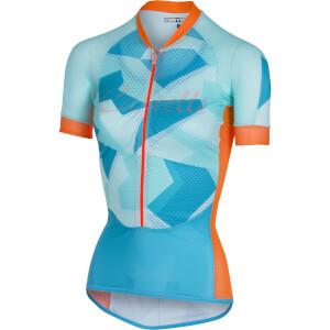 Castelli Women's Climber's Jersey - Sky Blue/Orange