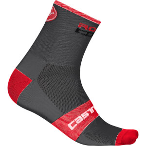 Castelli Rosso Corsa 13 Socks - Anthracite/Red