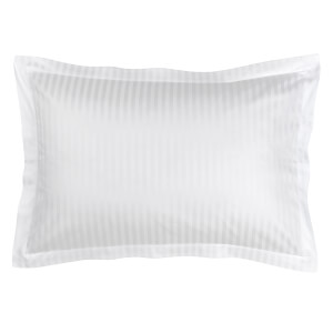 Christy 300TC Sateen Stripe Pillowcase Pair King - White