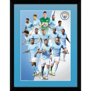 Manchester City Player 17/18 Framed Photograph 12 x 16 Inch