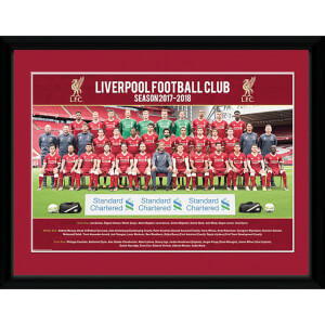 Liverpool Team Photo 17/18 Framed Photograph 12 x 16 Inch