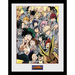My Hero Academia School Group Framed Photograph 12 x 16 Inch