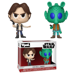 Figurines Vynl. Han Solo et Greedo Star Wars