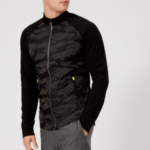 Superdry Sport Men's Training Stretch Hybrid Zip Through Top - Black Dash Reflective Camo