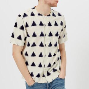 Universal Works Men's Ikat Arrow Baseball Shirt - Ecru