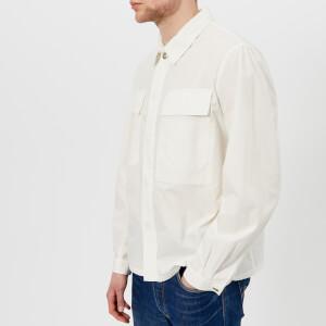 Universal Works Men's Poplin Chore Overshirt - Ecru