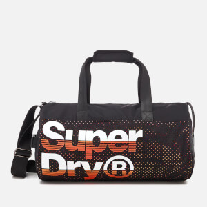 Superdry Men's Nue Wave Lineman Barrel Bag - Black/Hazard Orange
