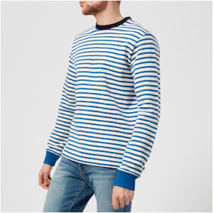 PS by Paul Smith Men's Regular Fit Breton Sweatshirt - White/Blue