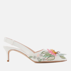 Christopher Kane Women's Peonies Slingback Shoes - Ivory