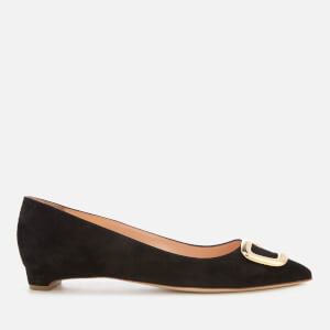 Rupert Sanderson Women's Bedfa Suede Pebble Court Shoes - Black