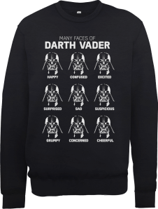 Star Wars Many Faces Of Darth Vader Sweatshirt - Black