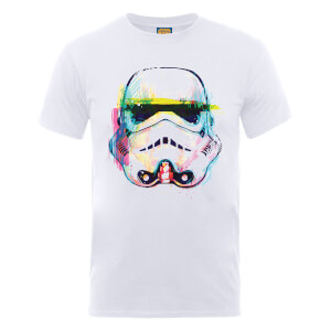 Star Wars Stormtrooper Paintbrush Art T-Shirt - White
