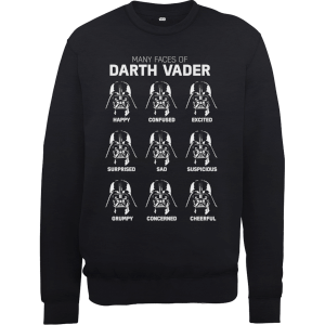 "Sudadera Star Wars ""Many Faces of Darth Vader"" - Hombre - Negro"
