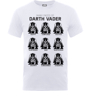 Star Wars Many Faces Of Darth Vader T-Shirt - White