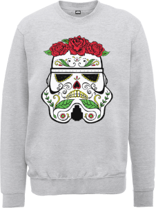 Star Wars Day Of The Dead Stormtrooper Pullover - Grau