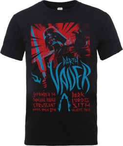 T-Shirt Star Wars Darth Vader Rock Poster- Nero