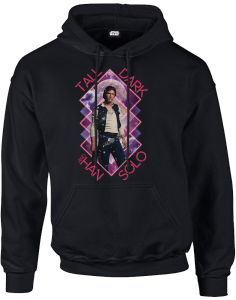 Star Wars Han Solo Tall Dark Pullover Hoodie - Black