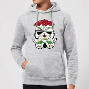 Star Wars Day Of The Dead Stormtrooper Pullover Hoodie - Grey
