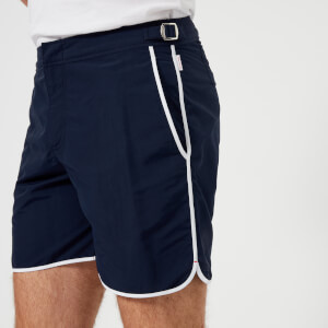 Orlebar Brown Men's Bulldog Binding Swim Shorts - Navy/White
