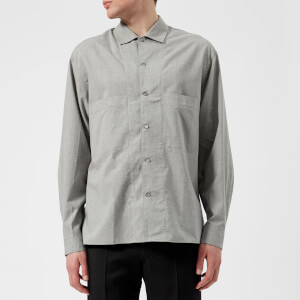 Lemaire Men's Soft Military Double Pocket Shirt - Grey Marl