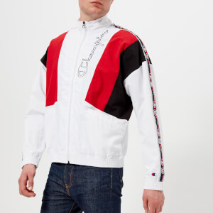 Champion Men's Track Top - White/Red/Black