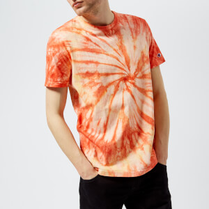 Champion Men's 68 Weave Crew Tie Dye T-Shirt - Coral