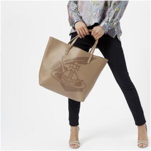 Vivienne Westwood Women's Made in Kenya Leather Shopper Bag - Beige: Image 3