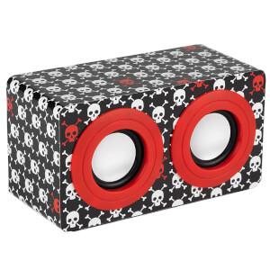 Intempo Mini Blaster Speaker - Red Skulls