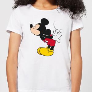 Camiseta Disney Mickey Mouse Beso - Mujer - Blanco