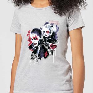 DC Comics Suicide Squad Harleys Puddin Frauen T-Shirt - Grau