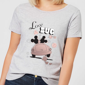 T-Shirt Femme Love Bug Mickey & Minnie Mouse (Disney) - Gris