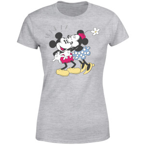 Disney Mickey Mouse Minnie Kiss Women's T-Shirt - Grey