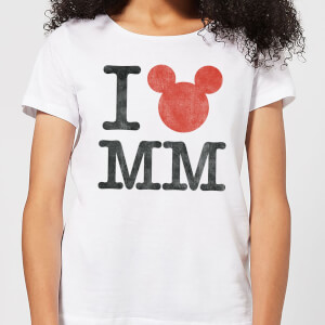 T-Shirt Femme I Heart MM Mickey Mouse (Disney) - Blanc