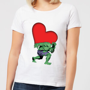 T-Shirt Marvel Comics Hulk Heart - Bianco - Donna