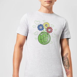 T-Shirt Marvel Avengers Hulk Flower Fist - Grigio