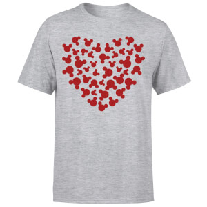 Disney Mickey Mouse Heart Silhouette T-Shirt - Grey
