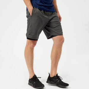 2XU Men's Training 2 in 1 Compression 9 Inch Shorts - Charcoal