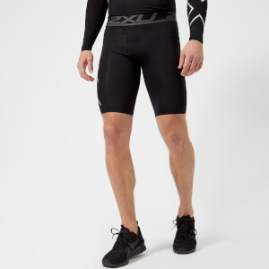 2XU Men's Accelerate Compression Shorts - Black/SIlver