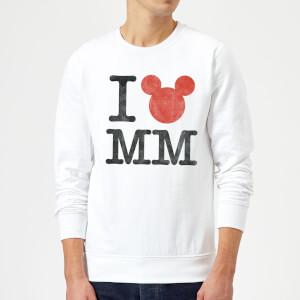 "Sudadera Disney Mickey Mouse ""I Love MM"" - Hombre - Blanco"